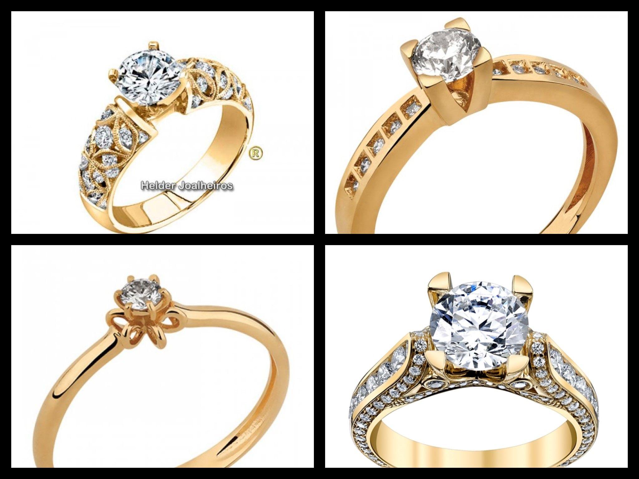 Modelos de Anéis para Debutantes Todos Feitos com Ouro 18K 750 com  Diamantes ou Zircônia com c2d717ac6e