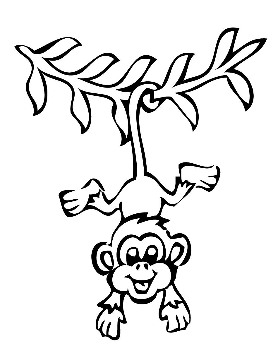 Free coloring pages monkeys | www.slippinsliders.com | Pinterest