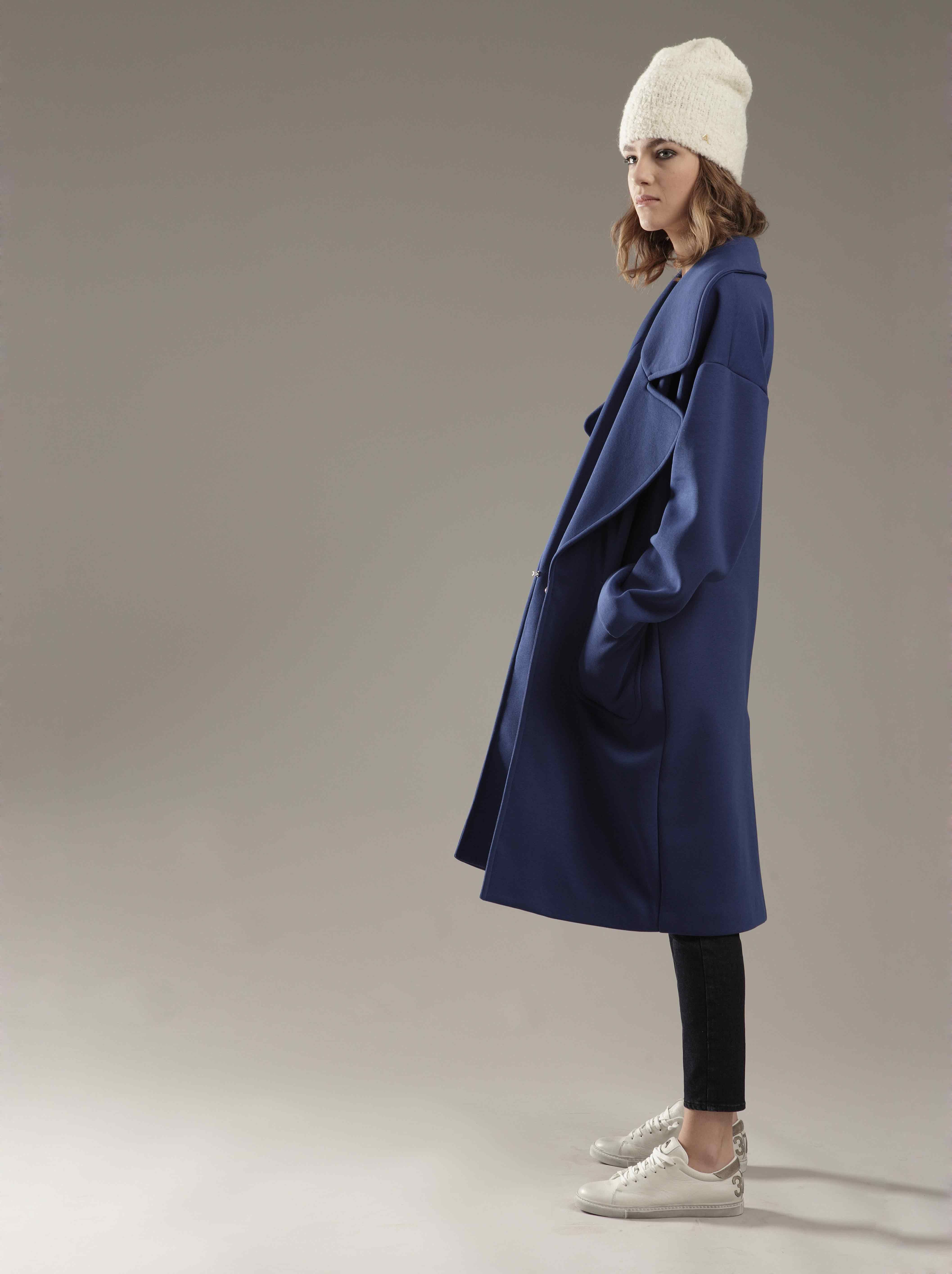#blue #coat #madeinitaly by #CYCLEJEANS