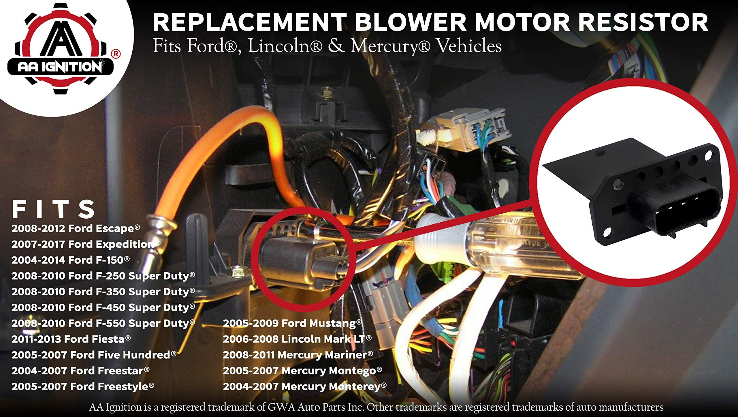 HVAC Blower Motor Resistor Fits Ford Expedition, Escape
