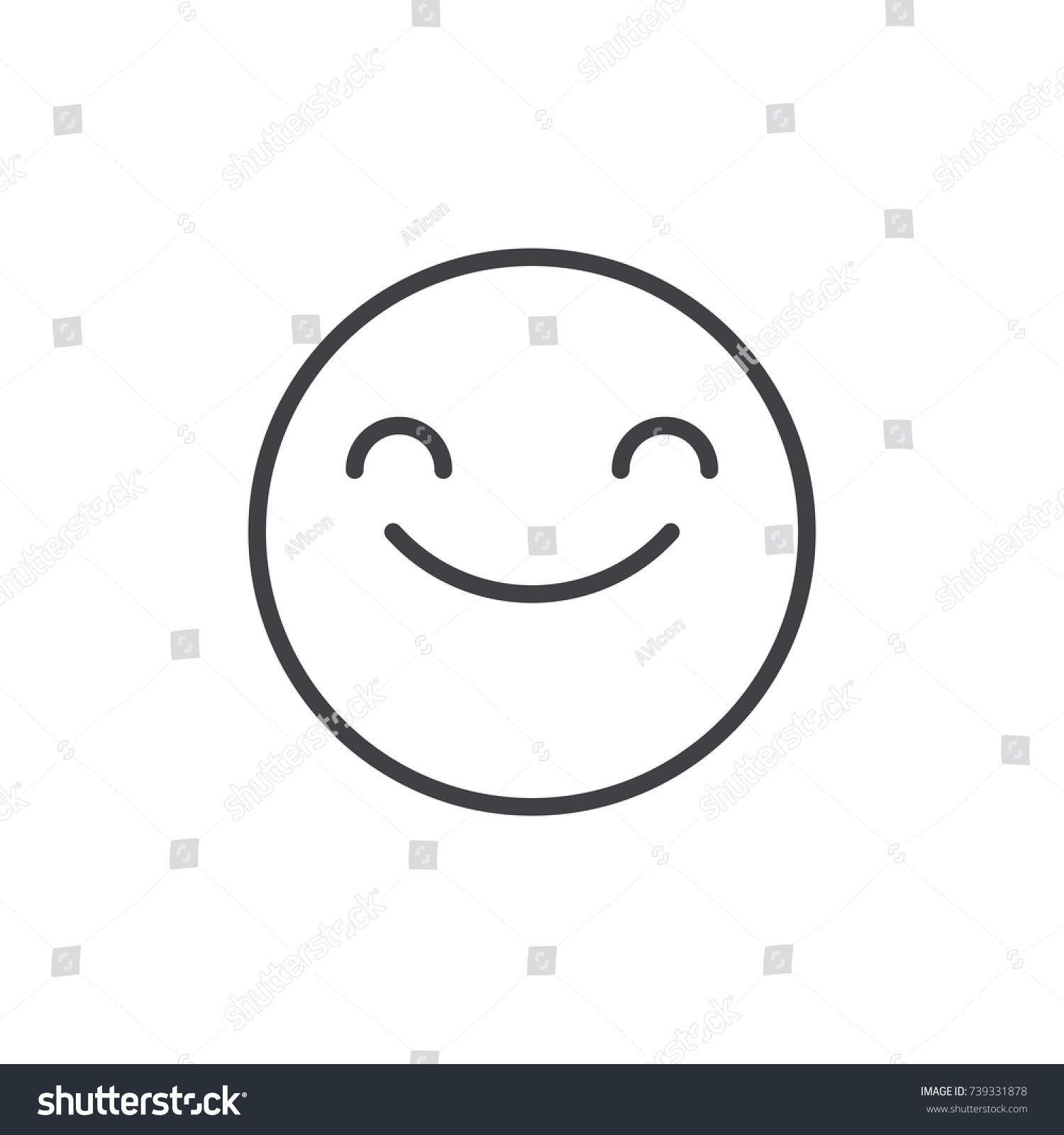 Emoticon Emotion Face Happy Simple Shape Smile Icon Download On Iconfinder Happy Face Symbol Happy Face Images Smile Icon