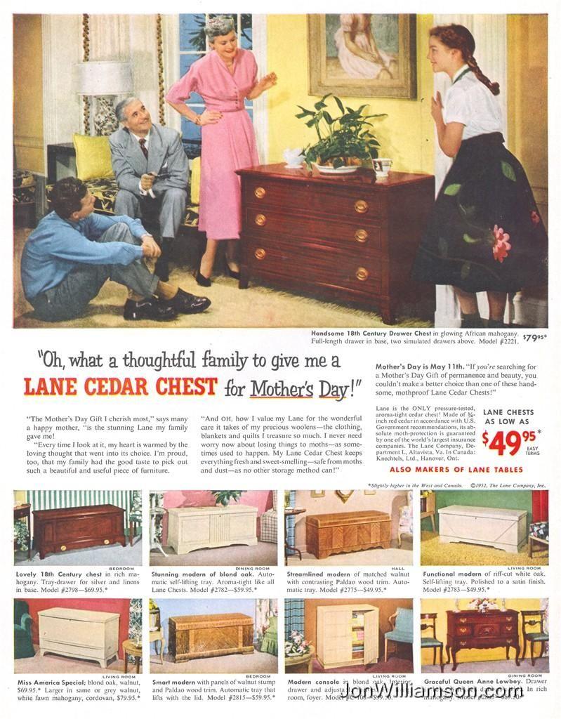 All Girls Wanted A Lane Cedar Chest Furniture Ads, Lane Furniture, Porch  Furniture,