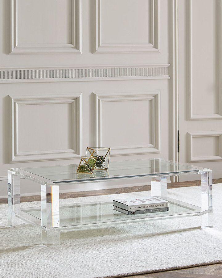 Interlude Home Landis Acrylic Coffee Table Acrylic Coffee Table Modern Glass Coffee Table Coffee Table