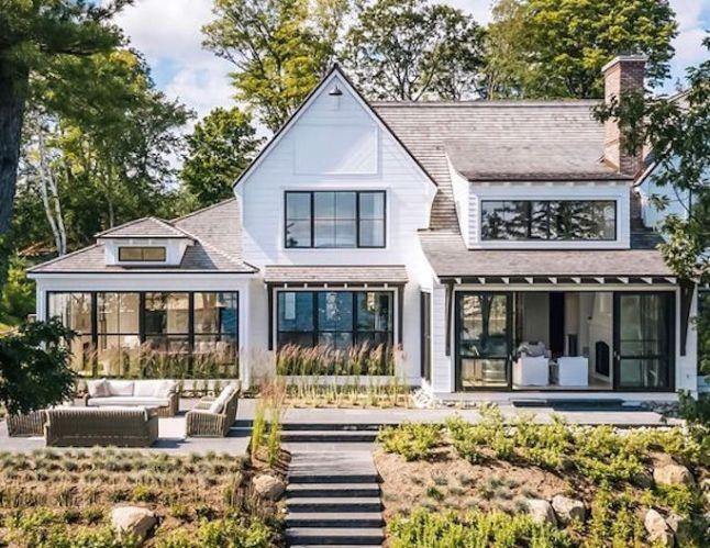 Q A Black Or White Windows Becki Owens Modern Farmhouse Exterior House Designs Exterior Lake Houses Exterior