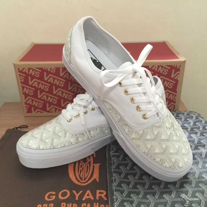 0ccb22ef5d NEW Vans X Goyard Custom Made Authentic White Christpher Wanton Style RARE   Vans  Authentic