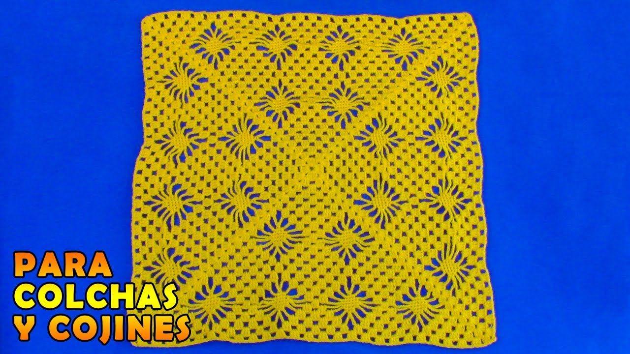 Cuadrado A Crochet En Punto Araas Paso Para Colchas Ponchos Trippy Hippy Afghan Pattern Kingdom Ma