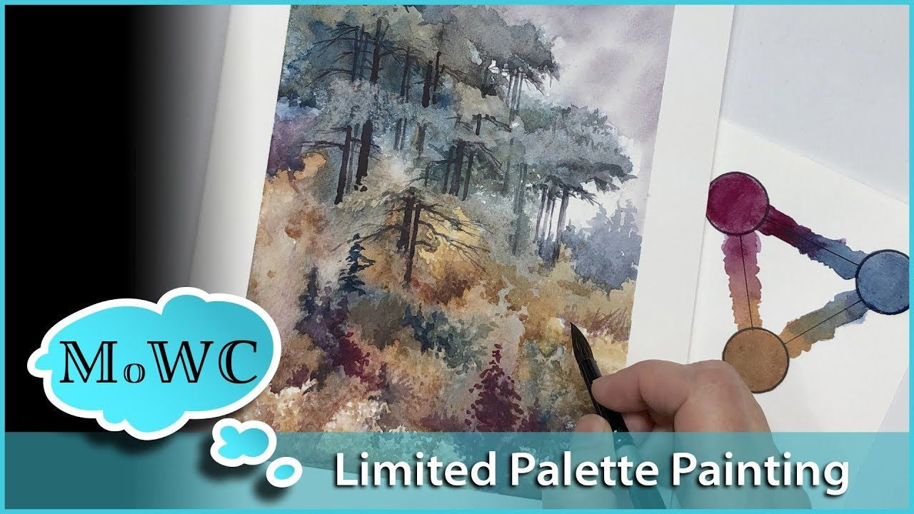 Limited Palette Spontaneous Landscape Watercolor Board Review