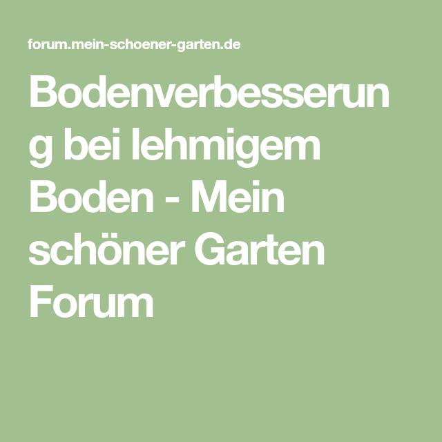 Bodenverbesserung Bei Lehmigem Boden   Mein Schöner Garten Forum