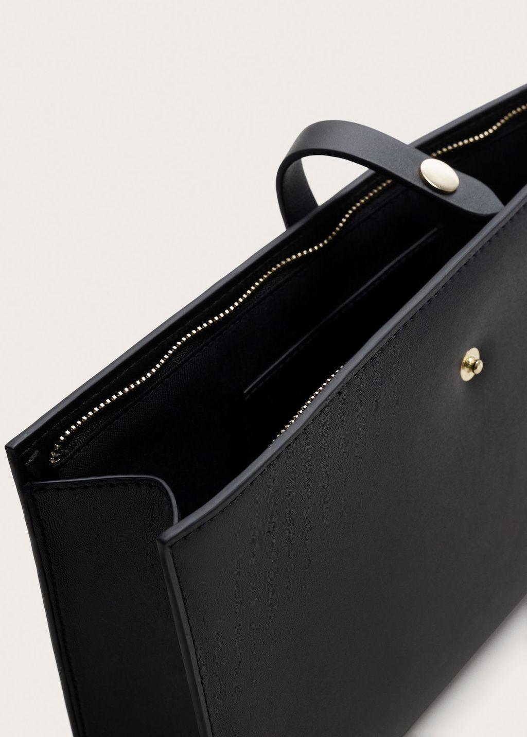 Tasche mit blumenstickerei Große größen | Violeta by Mango