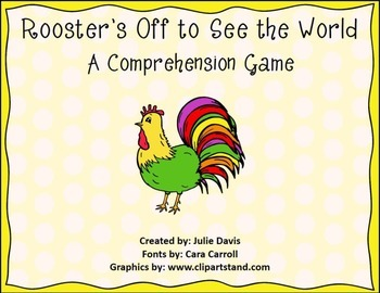 This Pack Is Designed To Accompany The Story Rooster S Off To See The World Fo Comprehension Games Kindergarten Comprehension Games Reading Street Kindergarten