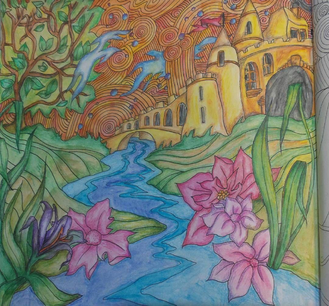 Castleonthehill Lizziemarycullen Themagicalcity Gramedia Coloringbookforadults Coloring Bayan Boyan Ekspresiwarna