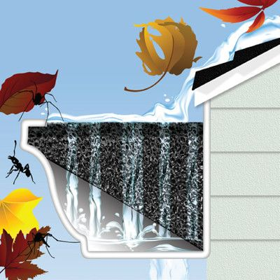 Protect Your Rain Gutters With This Easy To Install Gutter Filtration System The Multipolymer Backyard Landscaping Designs Rain Water Collection System Gutter