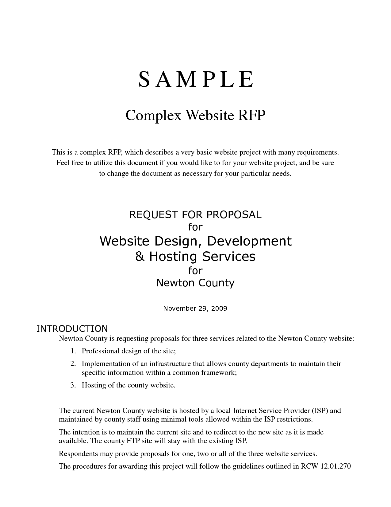 How To Write A Request For Proposal For A Website  The Best