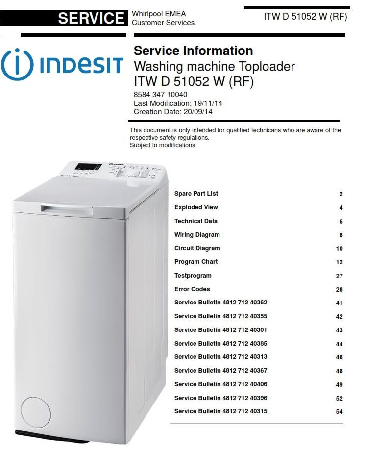 indesit washing machine wiring diagram indesit itw d 51052 w rf washing machine service manual  with  indesit itw d 51052 w rf washing