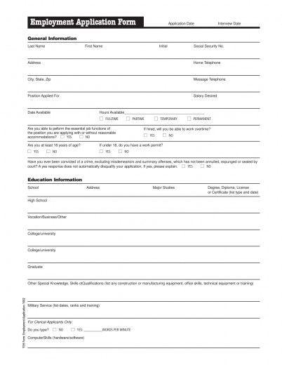 Download Employment Application form Download Meijer Job