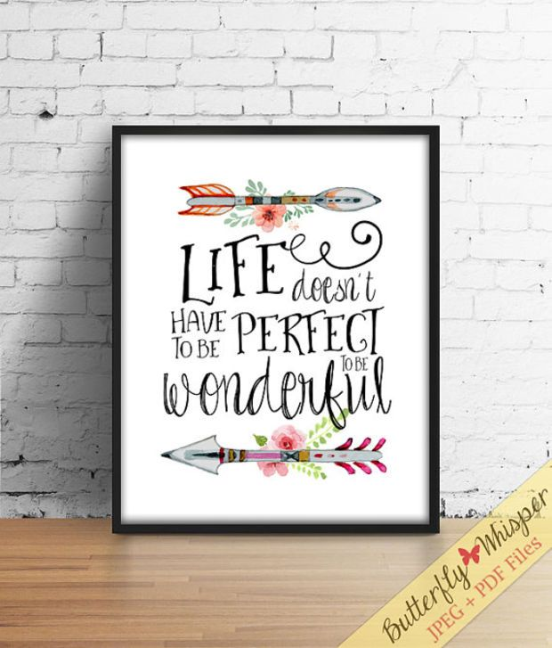 Superbe Inspirational Quote Wall Art Print, Tribal Wall Art, Canvas Quote, Quote  Poster,