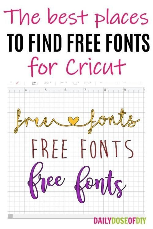 Download Where to Find Free Fonts for Cricut Design Space | Free ...