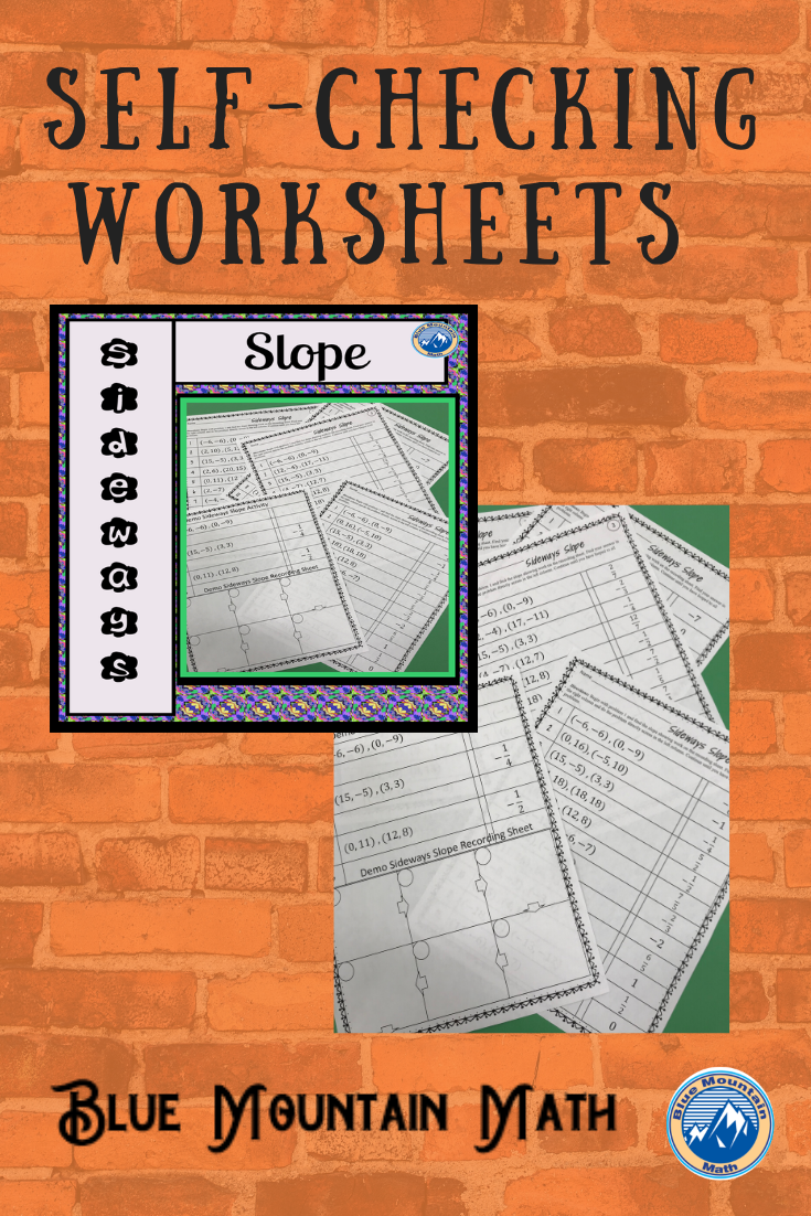 Slope from Two Points Worksheets in 2020 Algebra