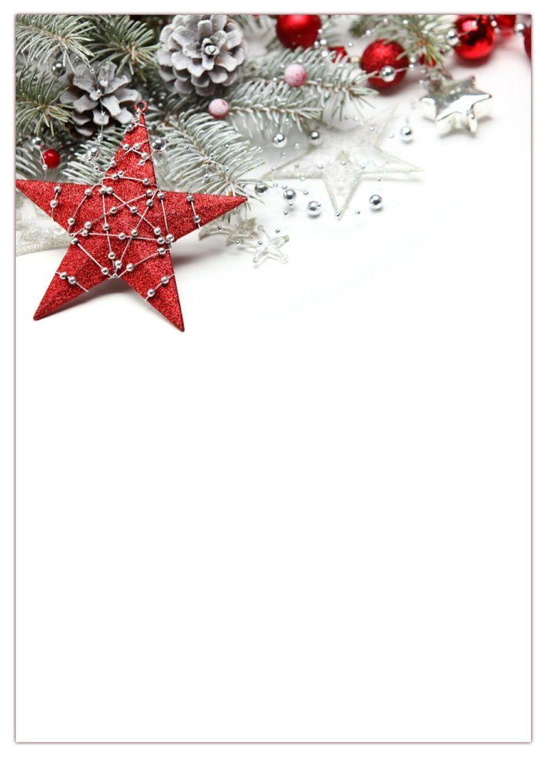 Impression In Rot Grun Briefpapier Weihnachten