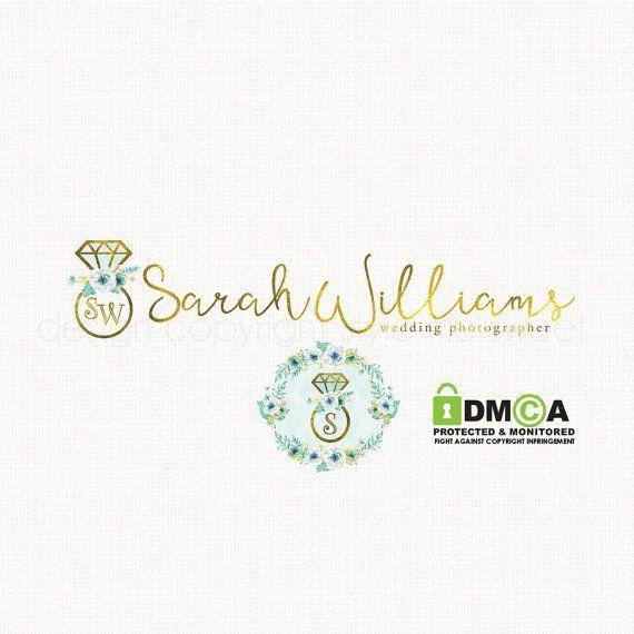 Premade Wedding Photography Logo Diamond By Stylemesweetdesign