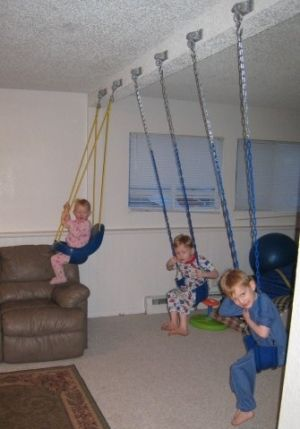 Indoor Swing Set Great For A Basement By Naida Jungle Gyms For