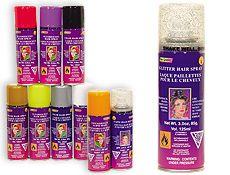 Glitter Hairspray blue aqua purple silver red?