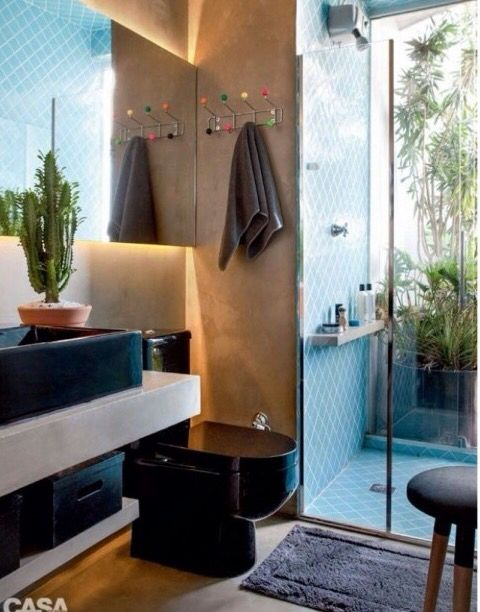 Mistura de estilo nesse banheiro super lindo!