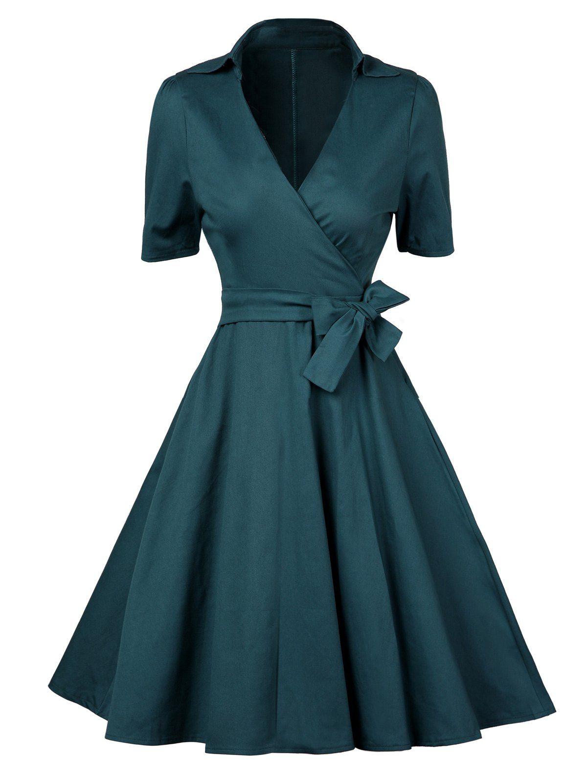 Low Cut Vintage Wrap Dress | Wrap dresses, Wraps and Vintage