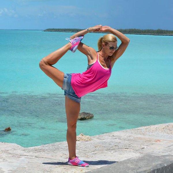 Tune into Kerri Verna's Periscope for regular beach yoga classes.