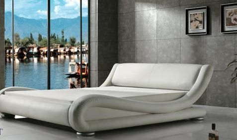 White Modern Waterbed Furniture White Leather Bed Bed