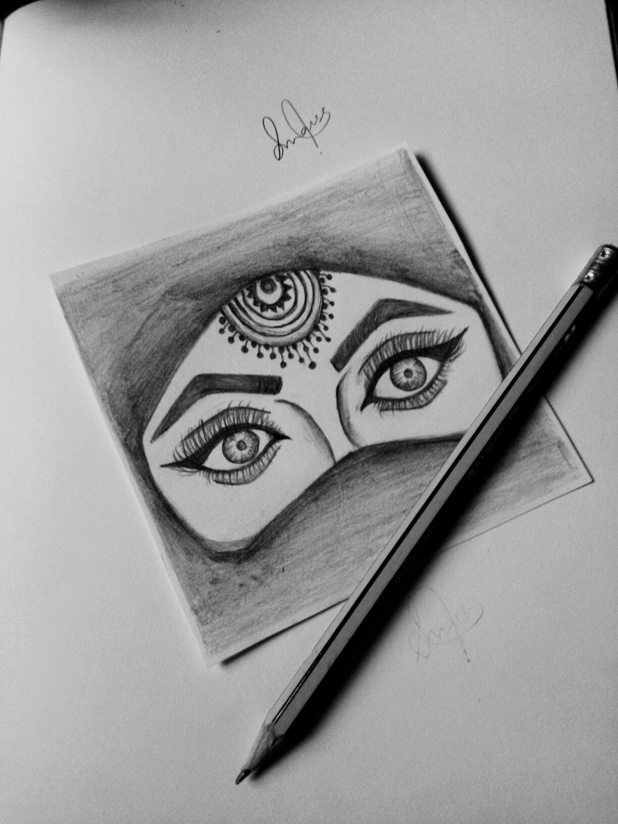 Beautiful Eyes In Hijab Sketch My Drawings Sketches Beautiful Eyes