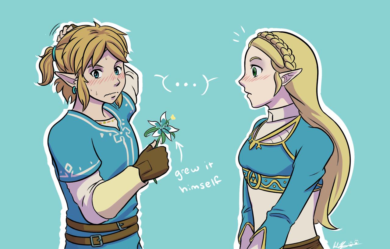 Breath Of The Wild Zelink Tumblr Legend Of Zelda Breath
