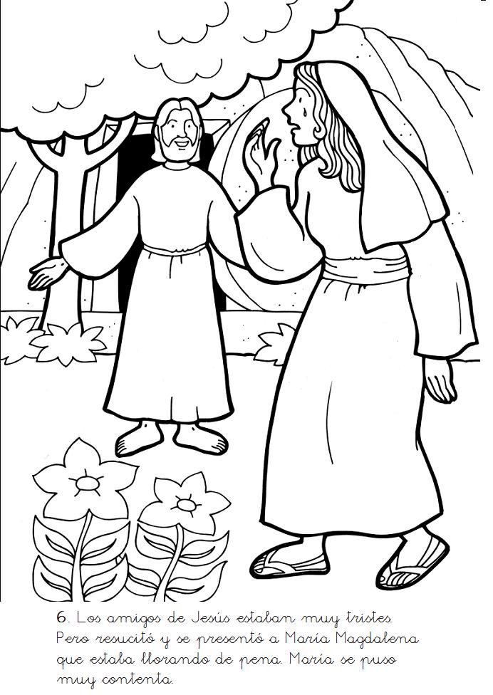 Escenas de la muerte y recurrección de Jesús para colorear los mas ...
