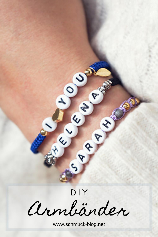 Diy Namensarmband Im Makramee Stil Armband Buchstaben