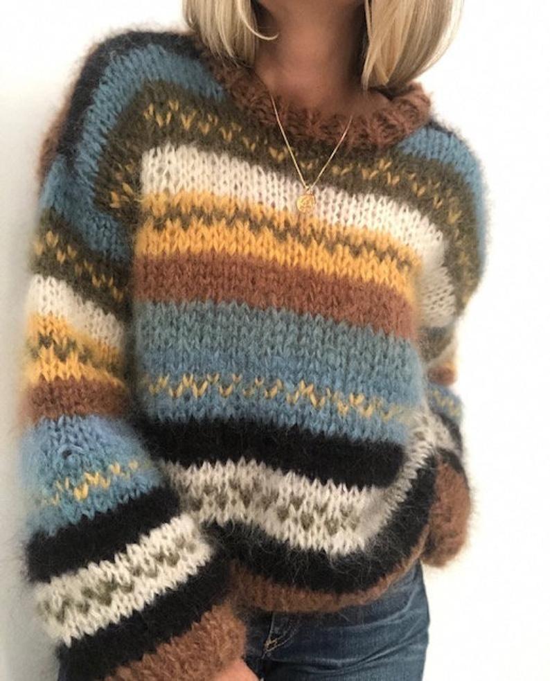 Chunky womens knitting pattern