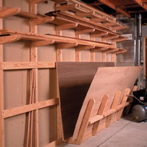 Plywood Garage Cabinet Plans: Lumber Storage Rack: Downloadable Woodworking Plan : Your
