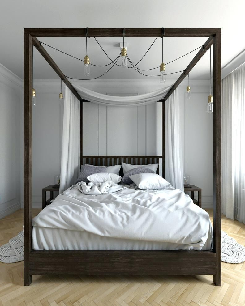 Modern Four Poster Bed Four Poster Bed Bedroom Contemporary With