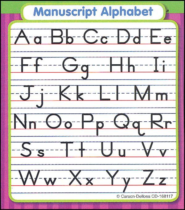 Manuscript Alphabet Study Buddy Sticker  Main Photo Cover