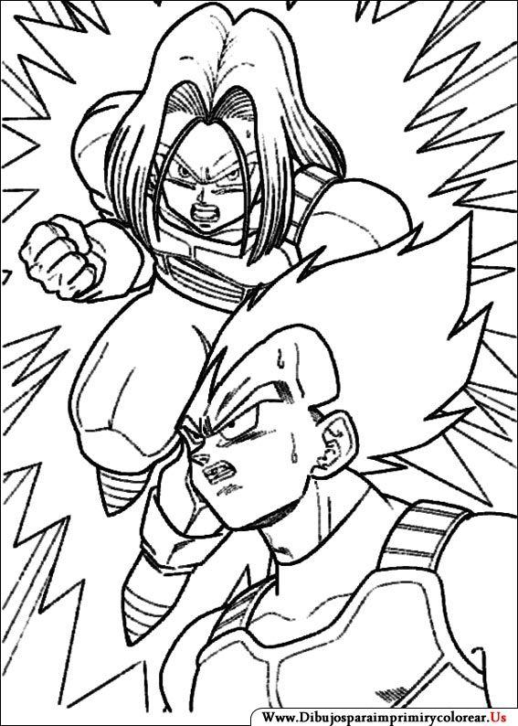 Dibujos de Dragon Ball Z para Imprimir y Colorear | dibujos ...
