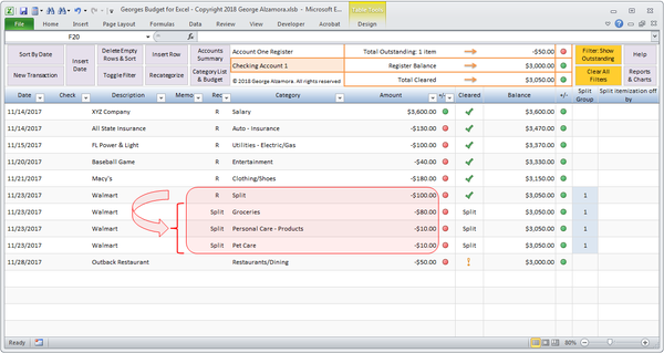 Budget for Excel v12.0 (With images) Budgeting