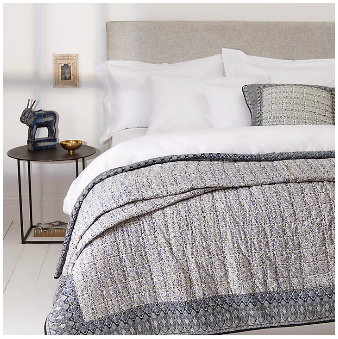 John Lewis Aztec print quilt and pillow Bed spreads