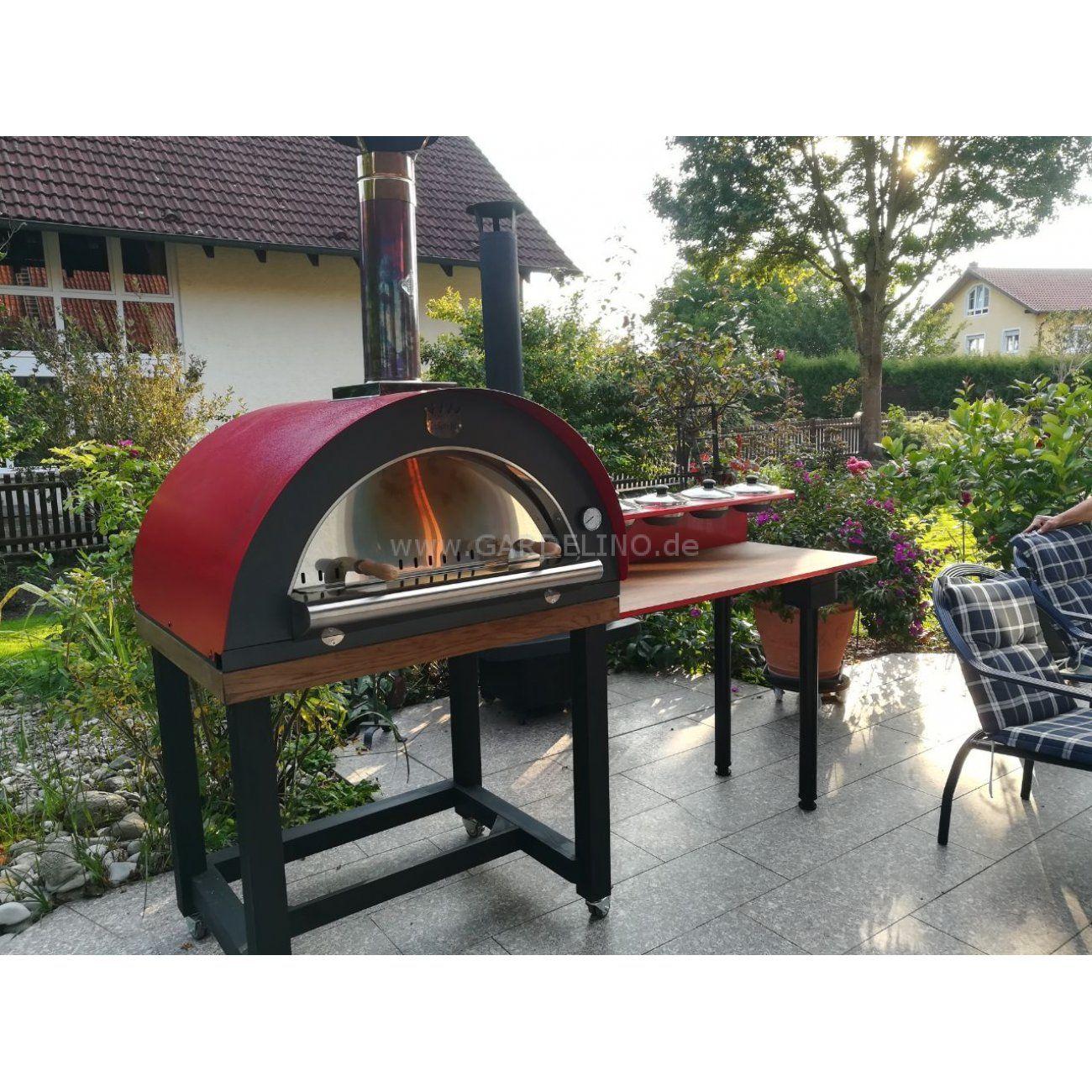 Direkt Befeuert Pizzaofen Family Von Clementi Mit Grosser Arbeitsflache Wood Fired Pizza Ofen By Clementi Outdoor Dekorationen Pizzaofen Eingebauter Grill
