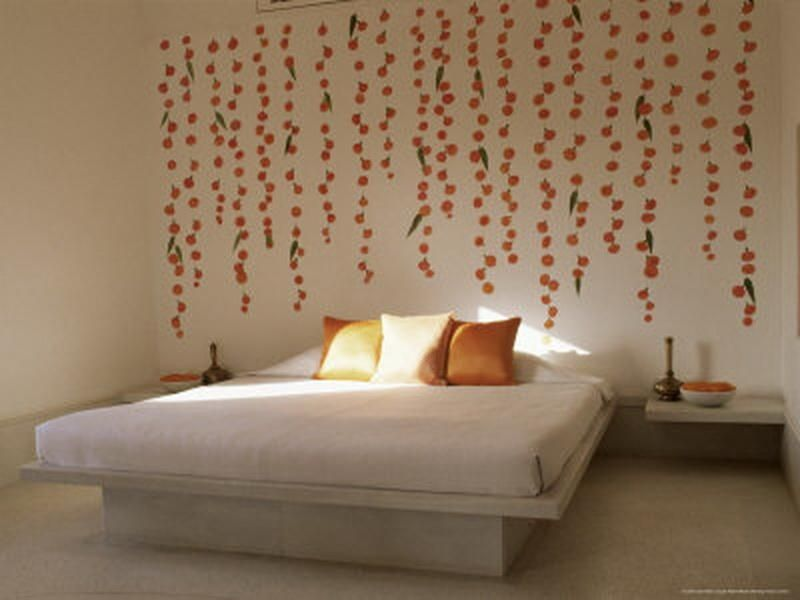 Wall Bedroom Decoration With Gold Color Beautiful For Honeymoon Stickers I