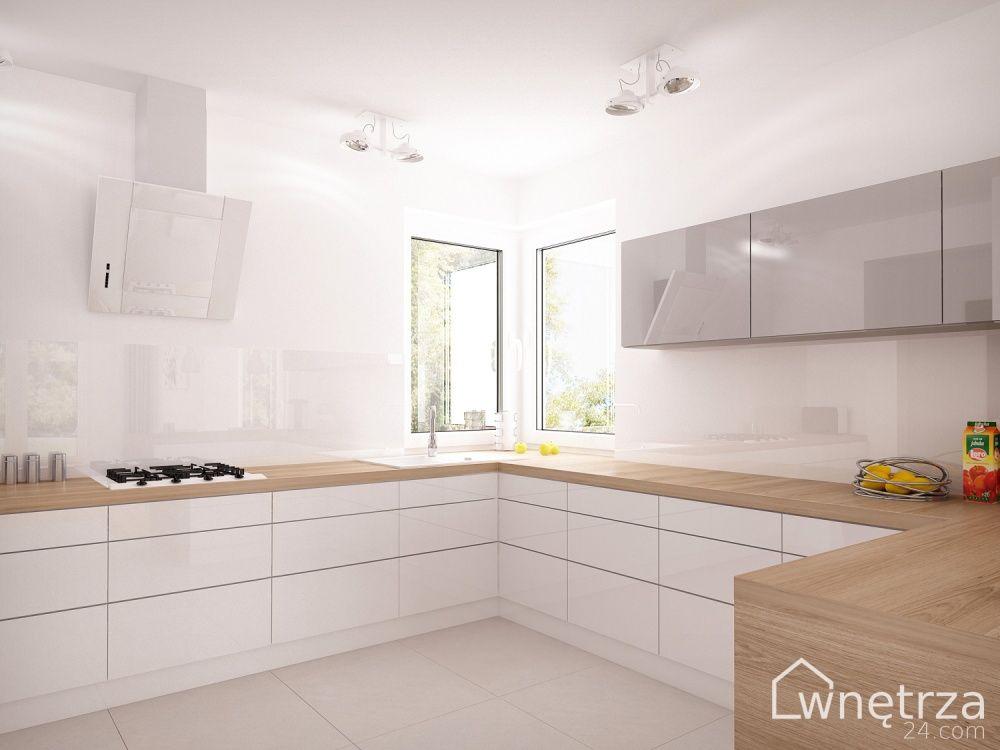 kuchnia biała z drewnem  Szukaj w Google  KITCHEN inside   -> Kuchnia Biala Matowa Z Drewnem