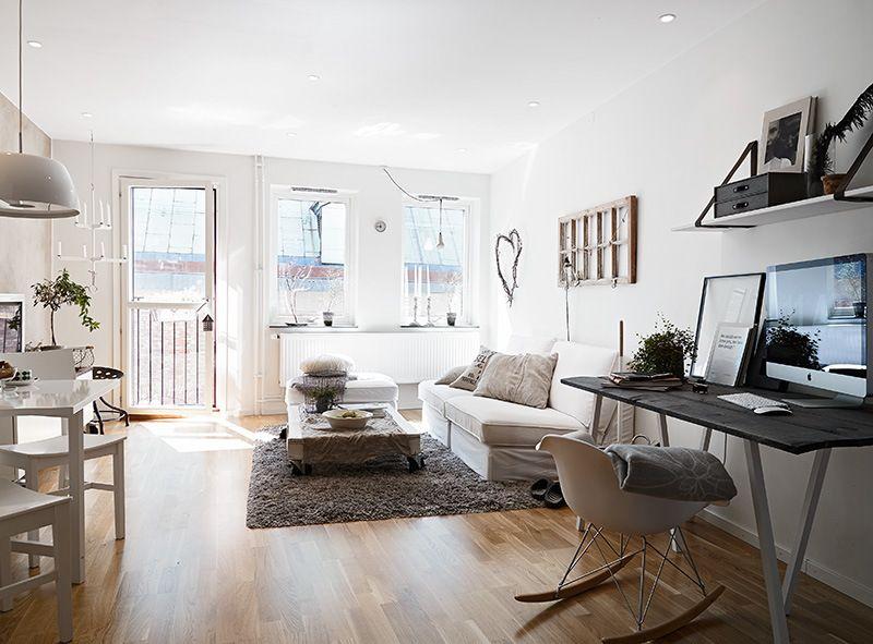 Fris en licht appartement van 49 vierkante meter Roomed | roomed.nl ...