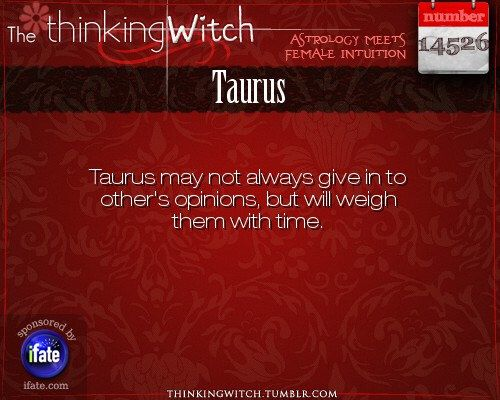 """""""The Thinking Witch"""" Taurus Astrology Fact for Wednesday March 1st"""