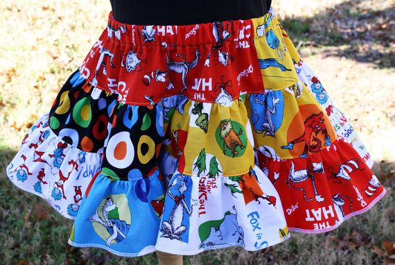 Seuss Twirl Skirt by fluffygirlboutique on Etsy, $37.99