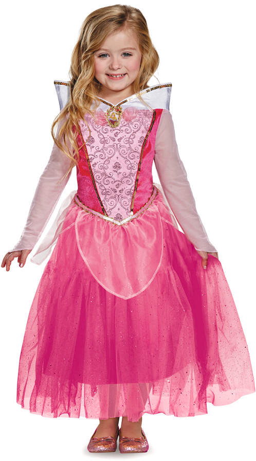 Sleeping Beauty Costume Kids Disney Princess Aurora Halloween Fancy Dress Up
