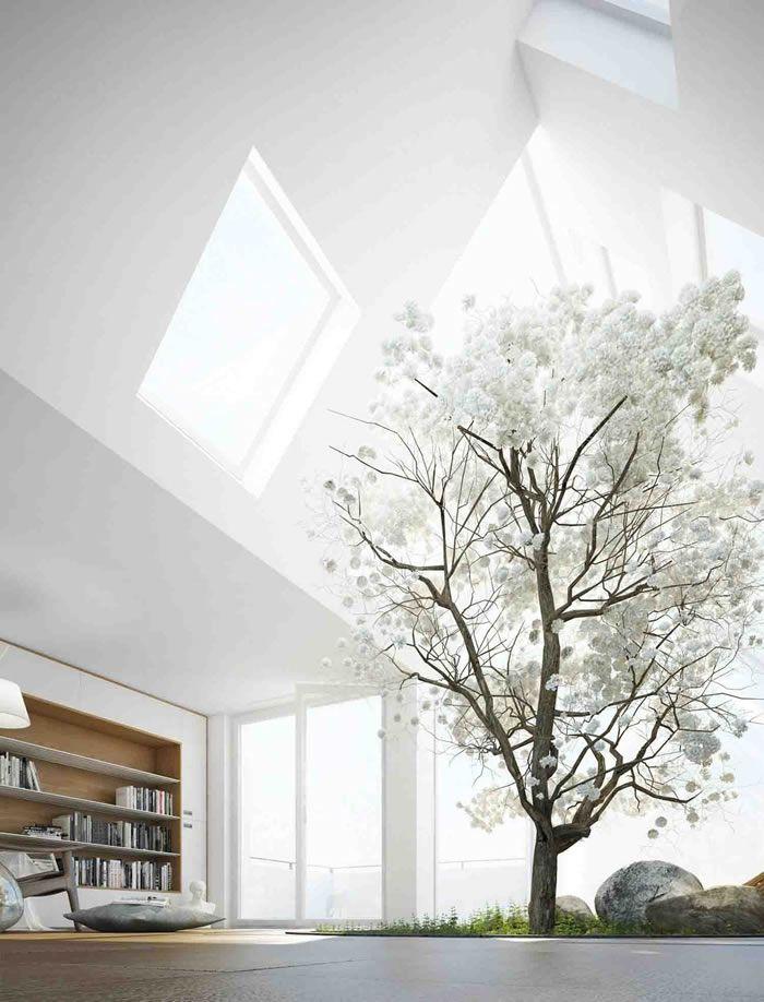 Living Room Skylight Design Ideas - DesignerzCentral   Design House ...