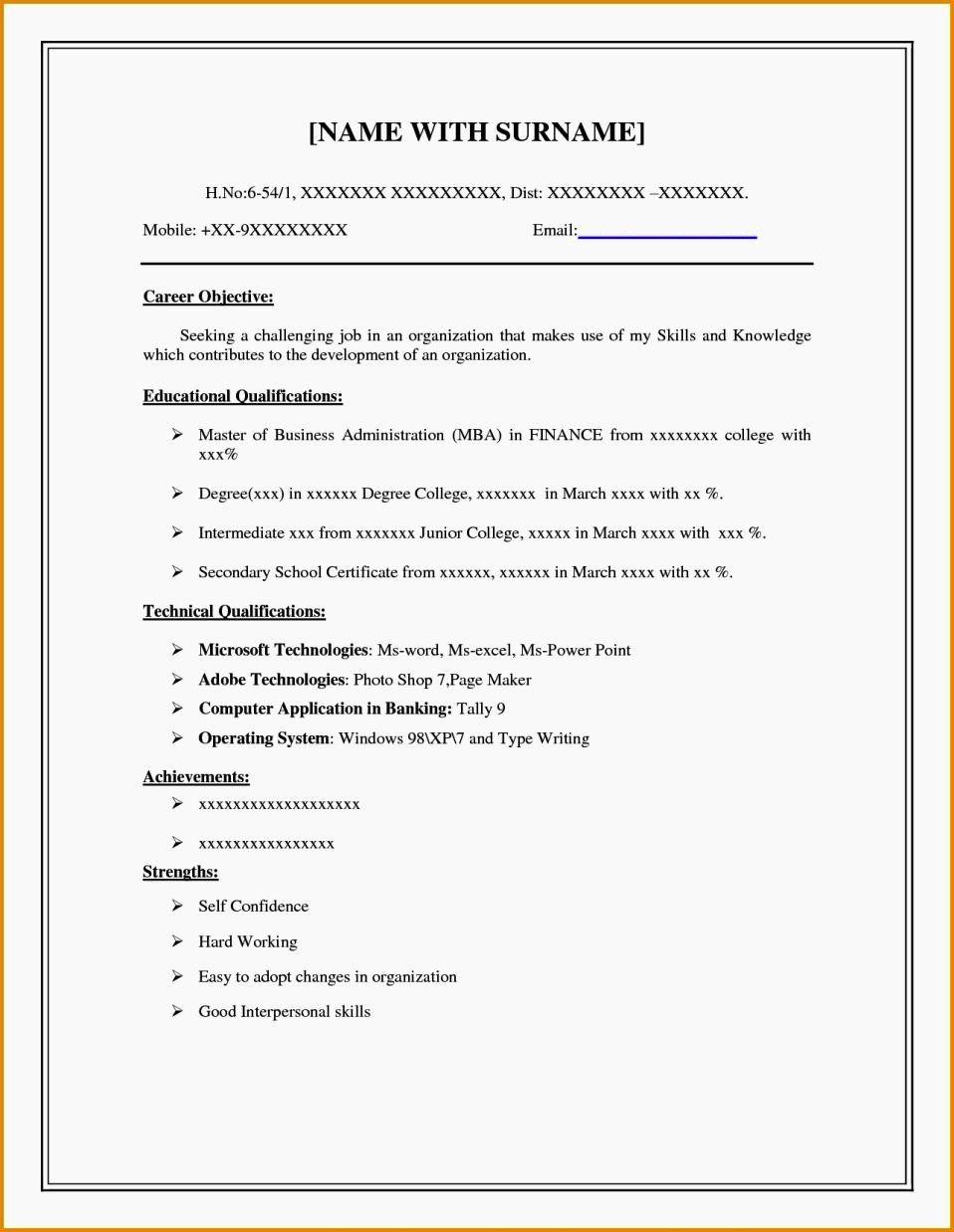 Fill in the blank resume worksheet fresh easy fill in